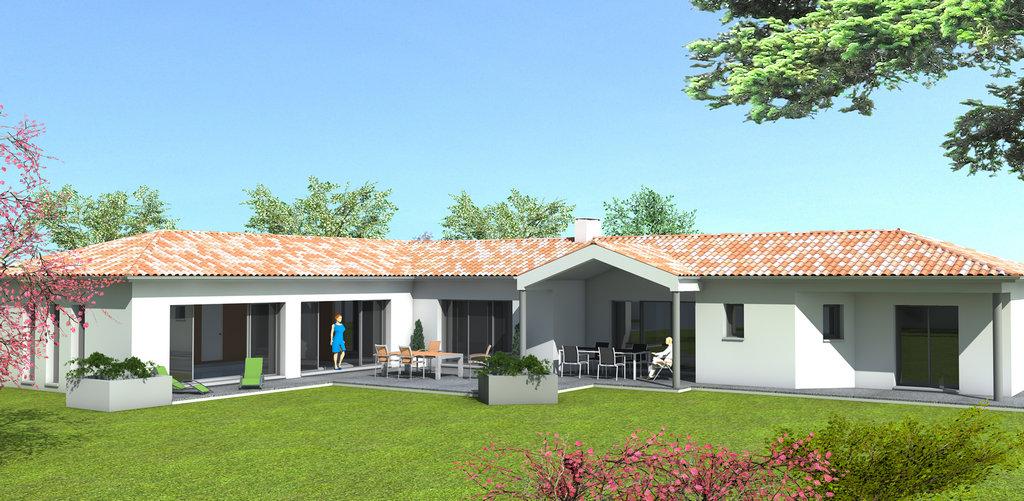 Maison 4 chambres avec piscine couverte bc4 2015 100 b tisseurs challandais - La maison de la piscine ...