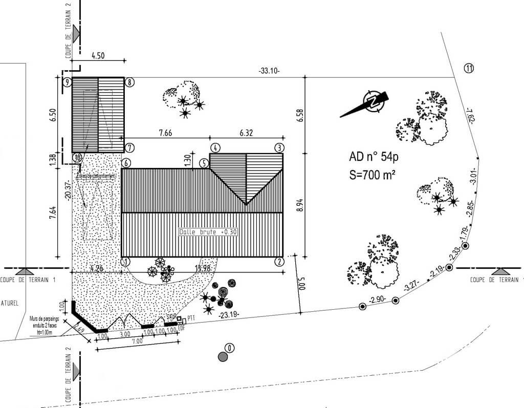 Plan de masse maison individuelle maison moderne for Plan de masse maison individuelle