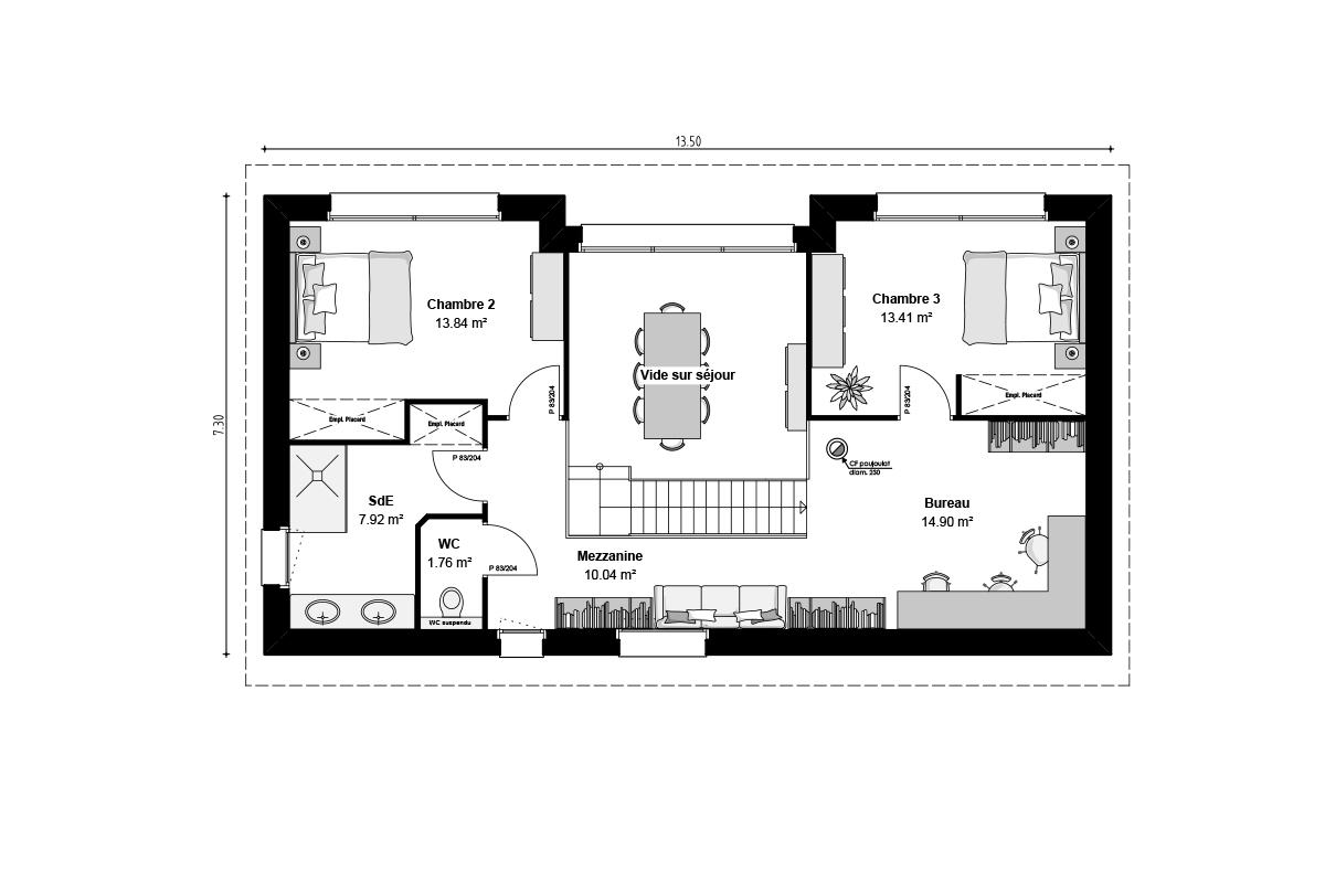 Plan de maison bepos Vendée