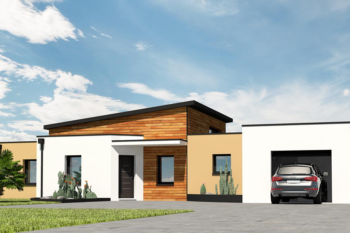 Maison toit-terrasse avec plafond chauffant
