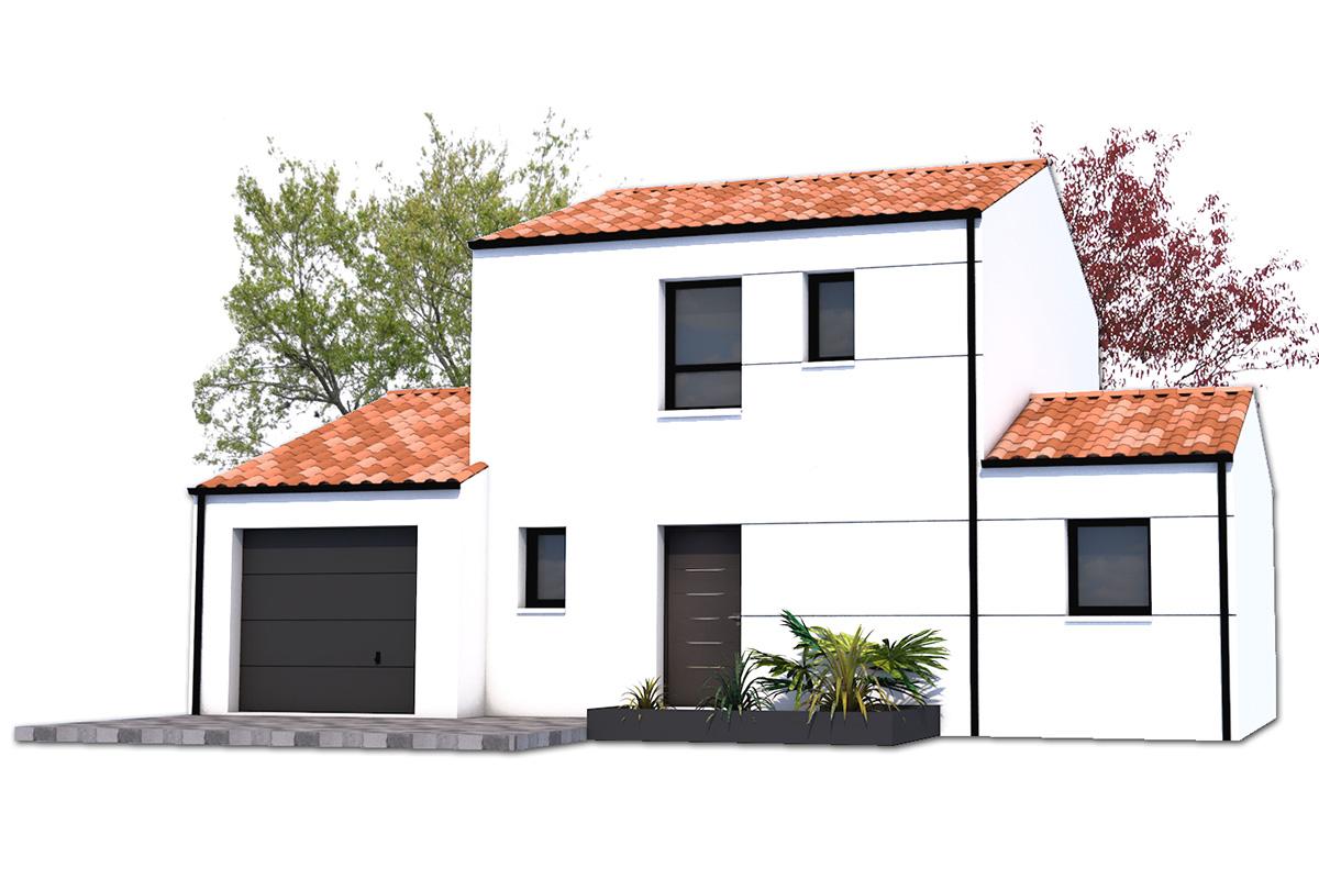 Projet de maison pour parcelles étroites, déclinable en 2 ou 3 chambres