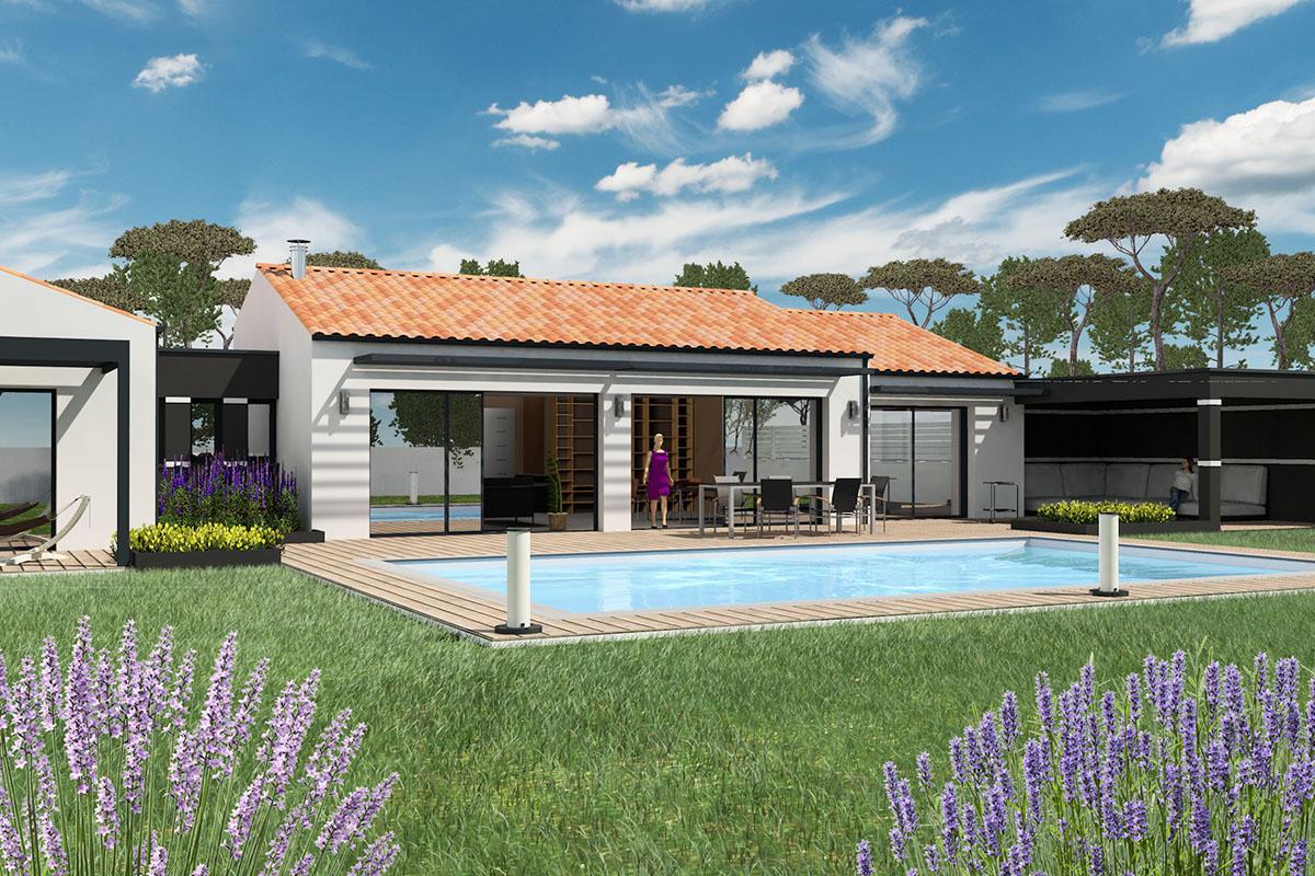 Maison d'architecte de plain-pied en Vendée