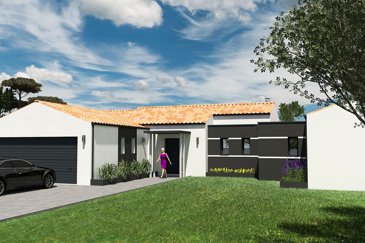 Maison d'architecte de plain-pied en Loire-Atlantique