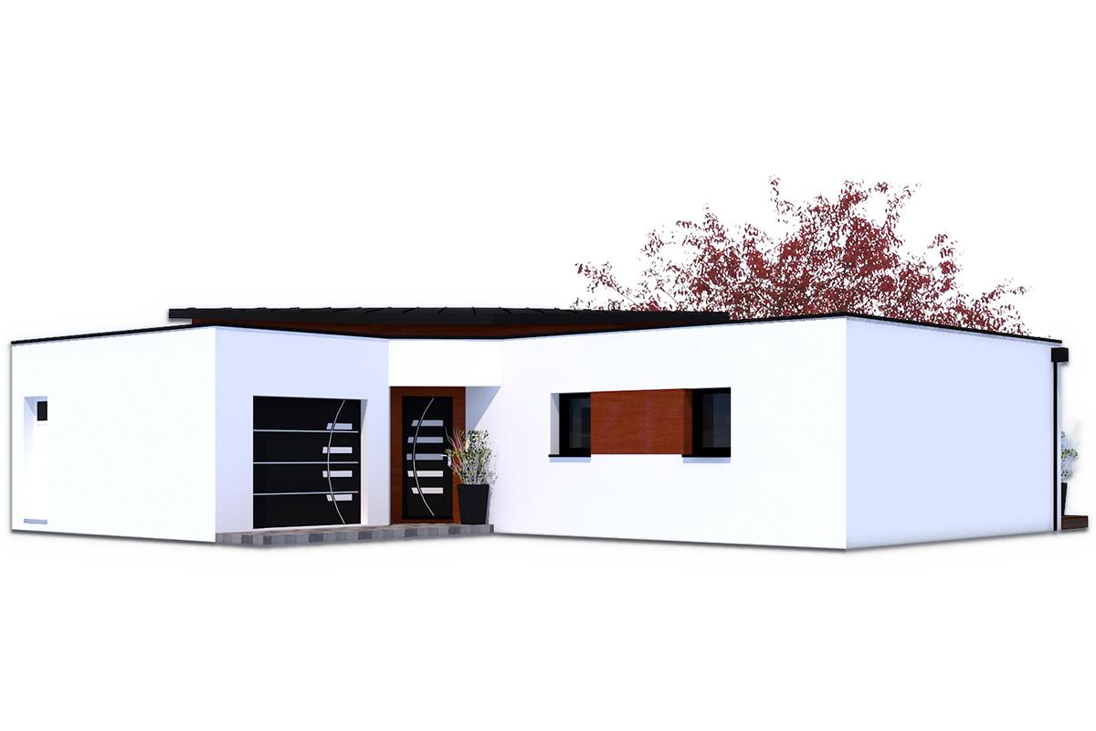 Projet de maison contemporaine avec toit plat