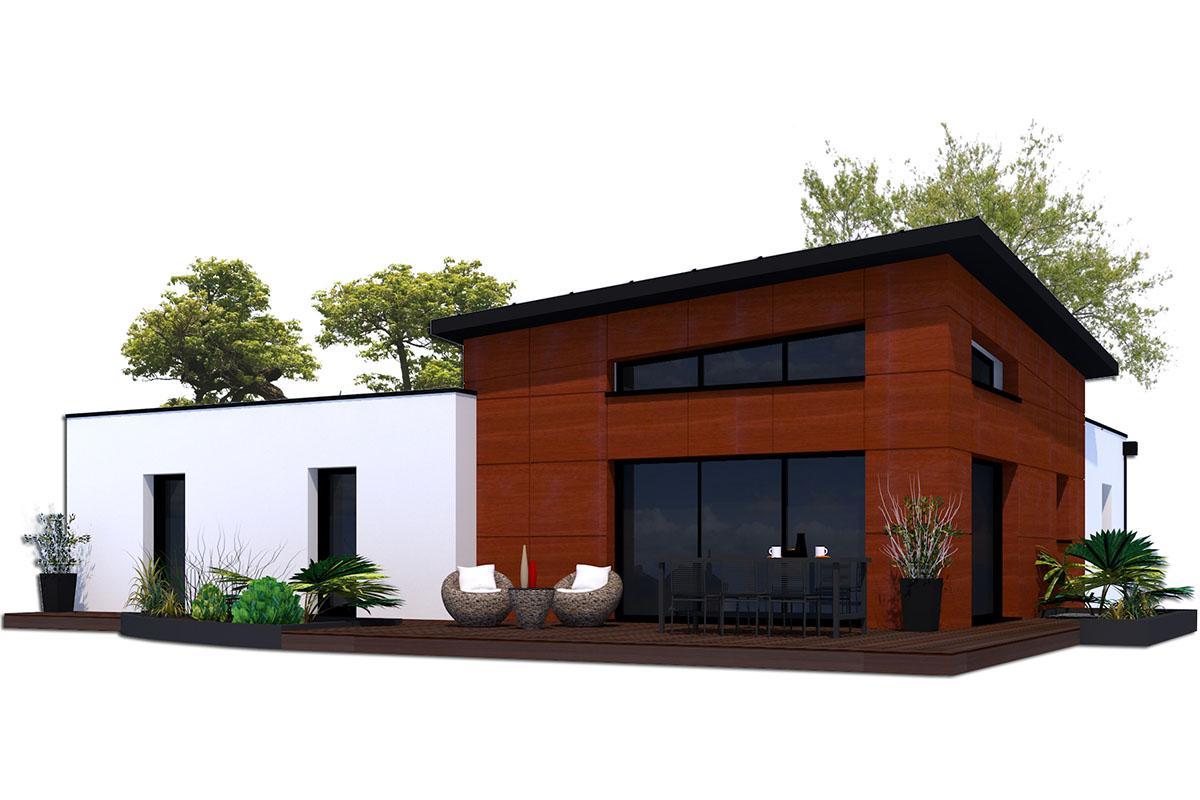Projet de maison contemporaine avec bac acier