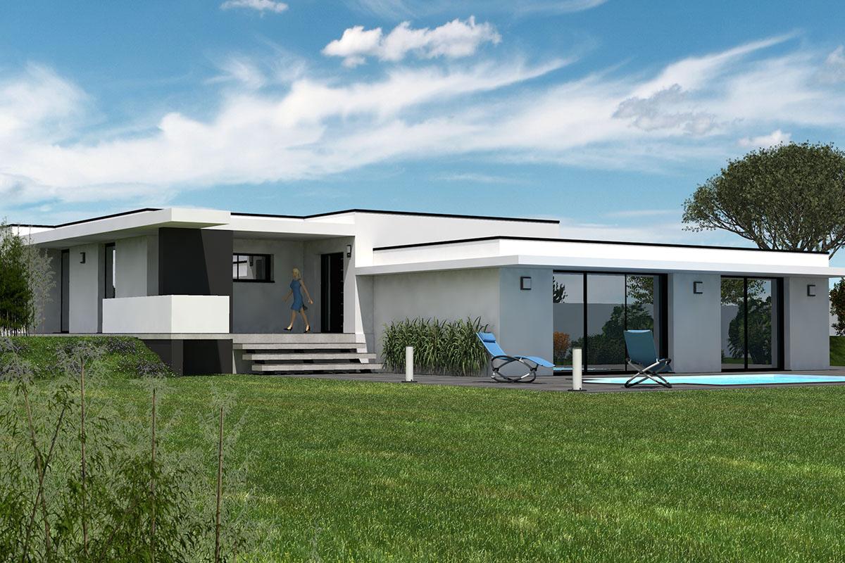 Projet de maison moderne d'inspiration Le Corbusier