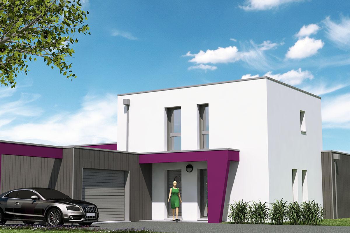 Maison lignes modernes toit-terrasse