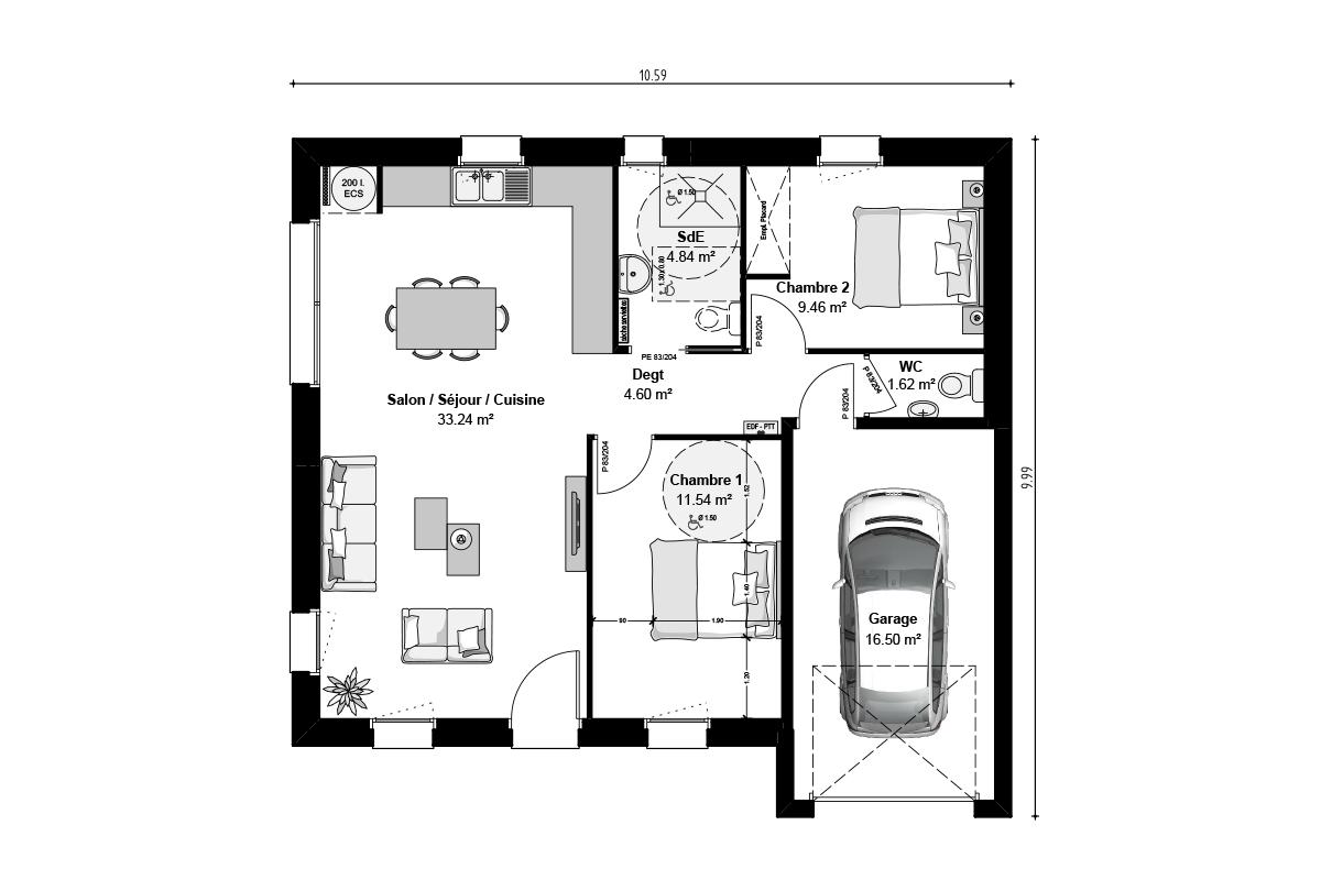 Plan de maison pour investissement loi Pinel