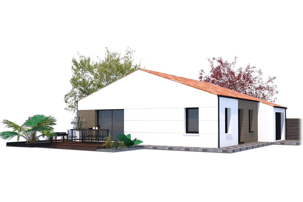 Projet de maison de 2 ou3 chambres qui prône l'optimisation des espaces