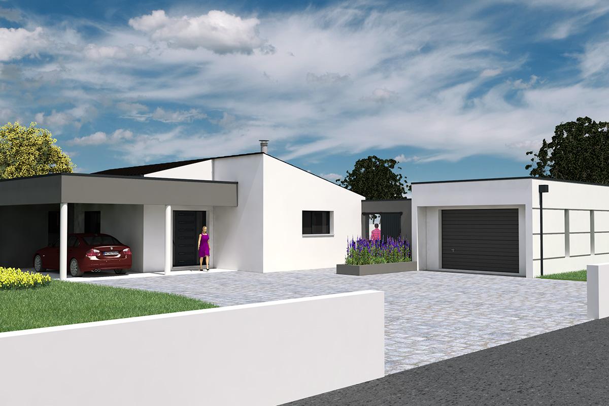 Projet de maison d'architecte à toit-terrasse