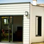Extension ossature bois et verrière atelier