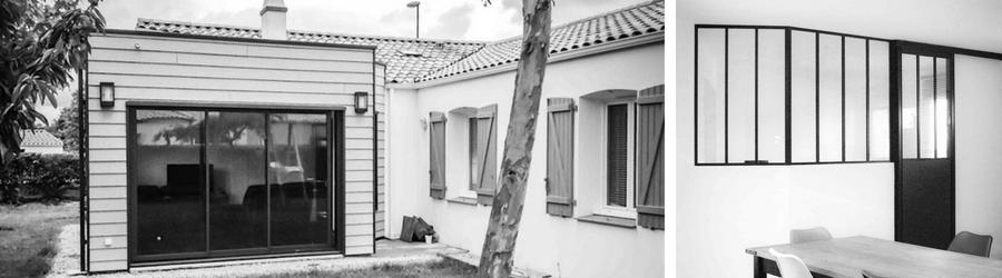 Extension maison individuelle en ossature bois à Challans