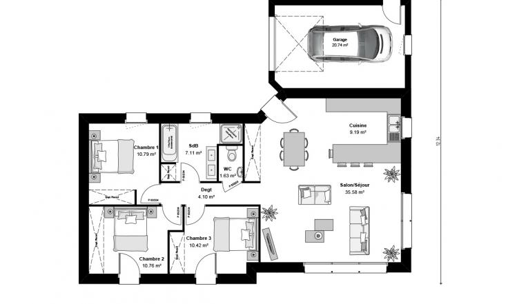 Plan Maison Toit Plat Opaline Maison Contemporaine 0