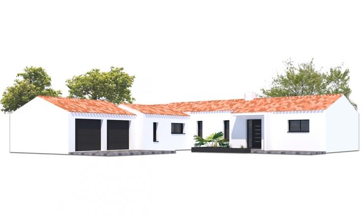 Maison En Forme De T les sablons - bâtisseurs challandais : constructeur de maison en vendée